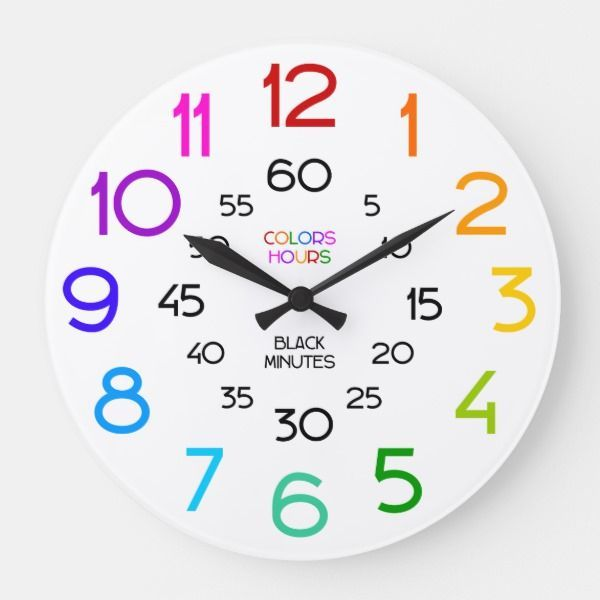Learn To Tell Time Classroom Wall Clock For Kids Zazzle Com In 2020 Learn To Tell Time Clock For Kids Classroom Walls