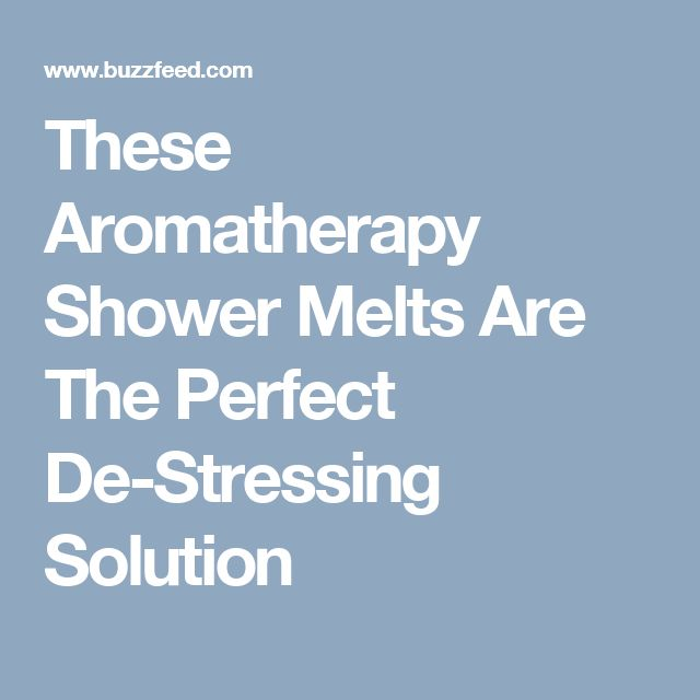 These Aromatherapy Shower Melts Are The Perfect De-Stressing Solution