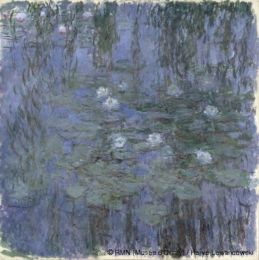 Claude Monet,Nymphéas bleus,© RMN (Musée d'Orsay) / Hervé Lewandowski