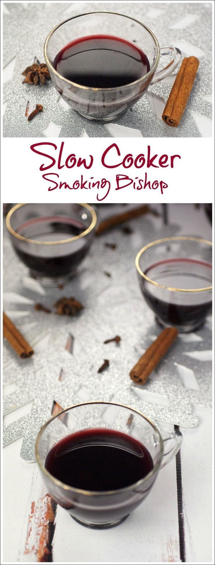 Need a mulled spiced wine recipe for a Christmas or New Year's Eve party. Smoking Bishop is a warmed, spiced fruit wine and port drink. Usually it takes two days to make, but this recipe cuts the time to half a day by using a slow cooker! Find this party