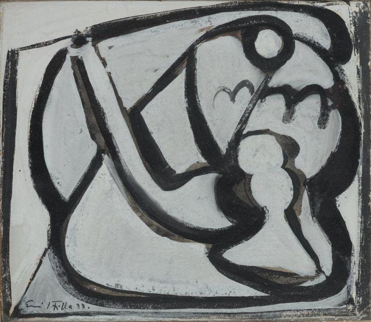 Emila Filla (1882-1953), Zátiší s dýmkou a sklenicí