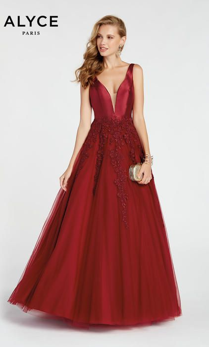4faa4f68f70 Alyce Prom 60357 The fabric in this Alyce Paris Prom style is Tulle Mikado