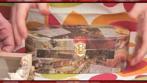 Idee originali: scatole decorative fai da te.  Scopri come realizzare originali scatole decorative per il Natale o per qualunque altra occasione speciale, in modo facile ed economico.