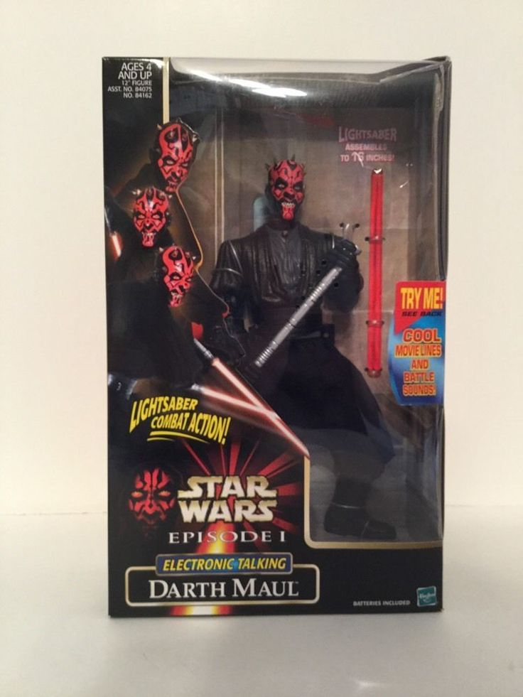 Star Wars LORD DARTH MAUL Double Lightsaber Electronic Talking Figure Episode 1