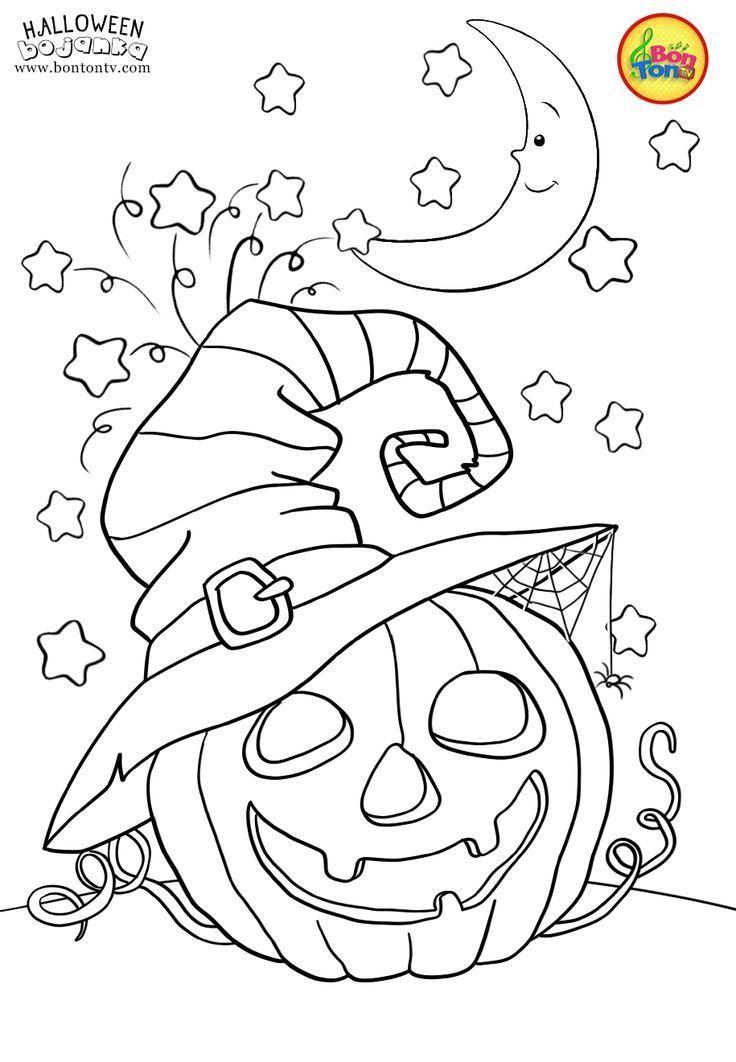 Halloween-Malvorlagen für Kinder - kostenlose Ausdrucke