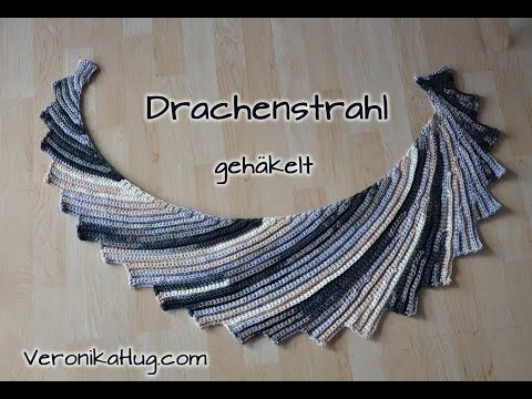 Stricken - DrachenSTRAHL gestrickt - Teil 1 - Woolly Hugs BANDY - YouTube