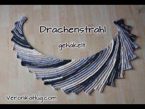 Häkeln DrachenSTRAHL gehäkelt - Woolly Hugs BANDY - Teil 1 - Veronika Hug - YouTube