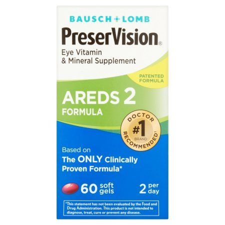 Bausch & Lomb PreserVision Areds 2 Formula Eye Vitamin Soft Gels, 60 ct, Multicolor