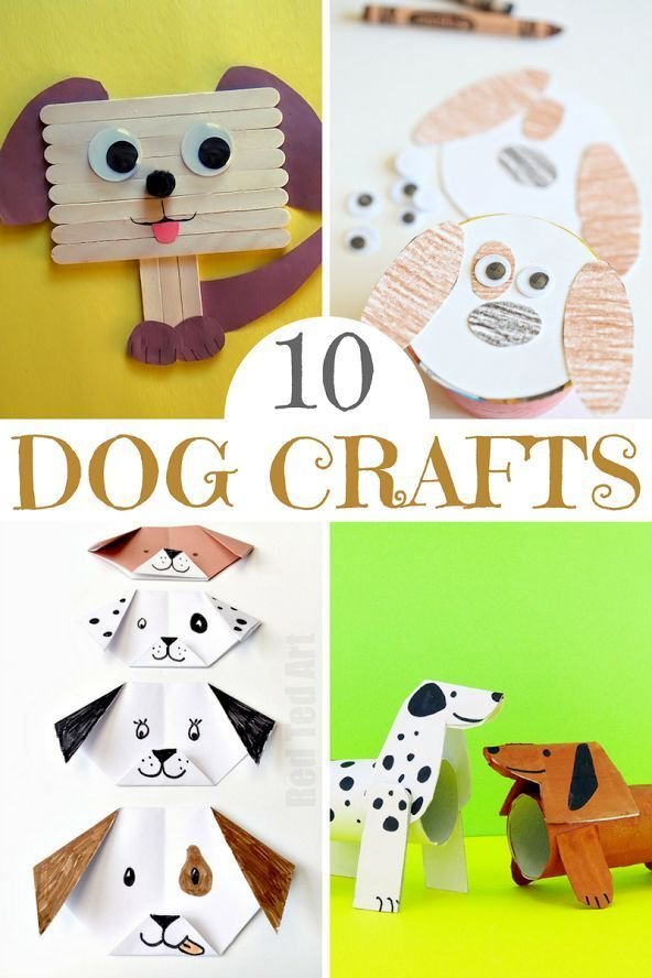 655 best images about quick and easy kid crafts on for Dog craft ideas