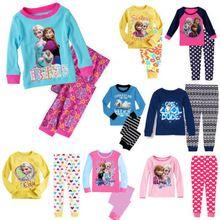 2014 nuovi capretti delle ragazze dei ragazzi degli indumenti da notte dei bambini che coprono gli insiemi del pigiama pigiama set vestiti per age 1-7yrs(China (Mainland))