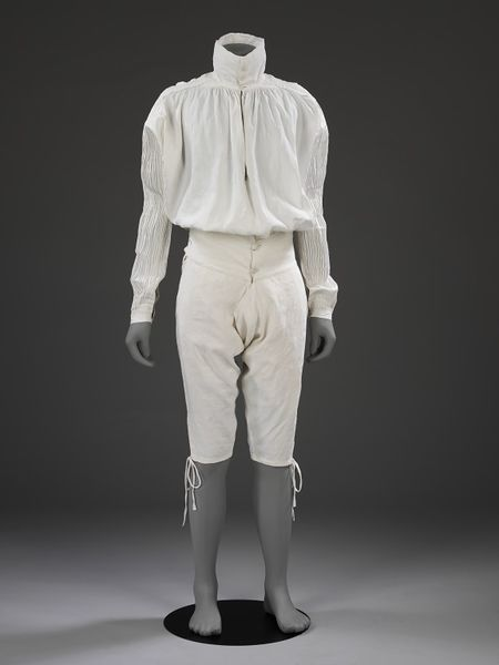 1775-1800, France - Drawers and shirt - Linen hand-sewn with linen thread