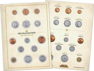 The Change Checker 'First and Last' Decimalisation Collector Page #ChangeChecker