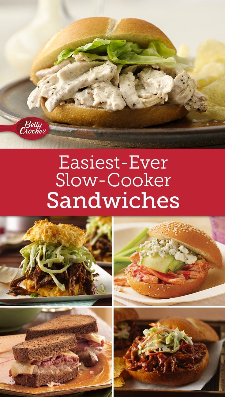Looking for a hassle-free way to feed a crowd? Try cooking up a crock of slow-cooked sandwiches!
