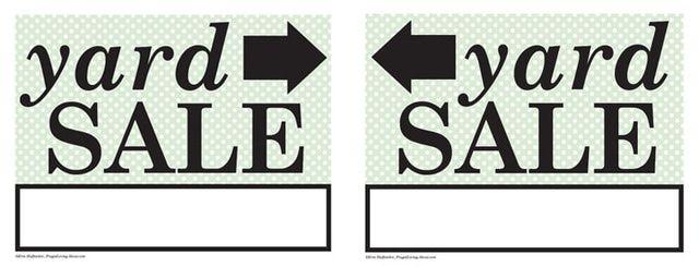 Free Printable Yard Sale Sign: Printable Yard Sale Signs