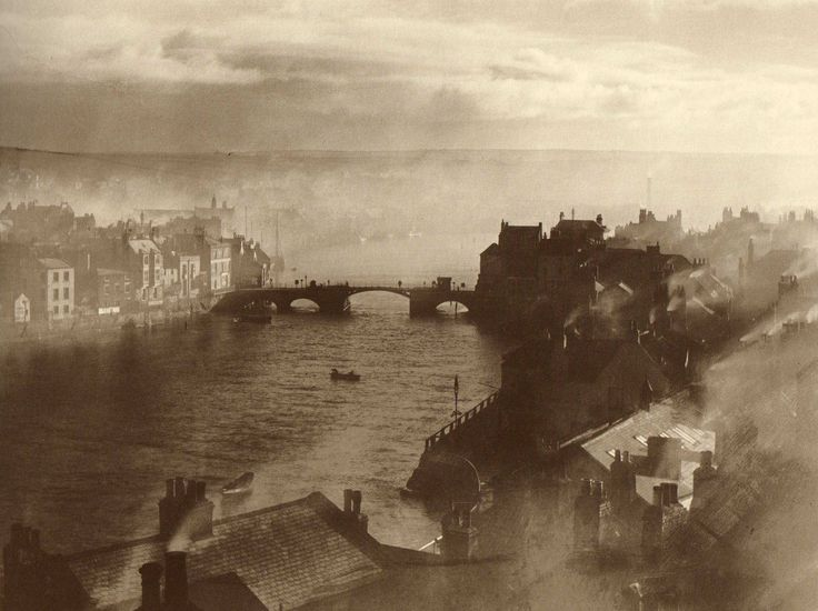 Town & Lower Harbour - Whitby - North Yorkshire - England - 1860