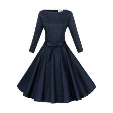 Blue 7 black dress 22 24