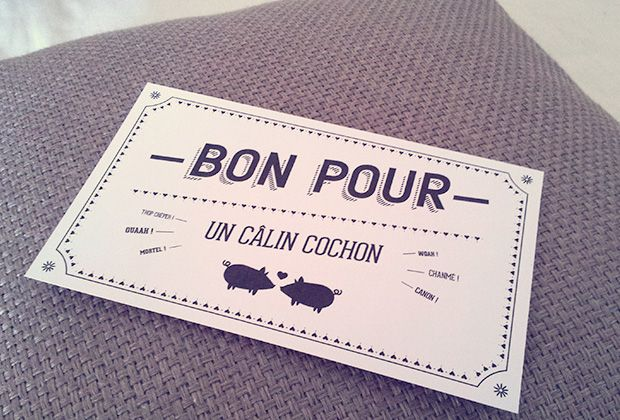 « Le kit galère » St Valentin, DIY, Bon cadeau, Typographie, Graphisme Gift Card, Typography, Graphic Design, Freebie