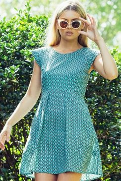 Mahashe Poppy Dress Tri Blue