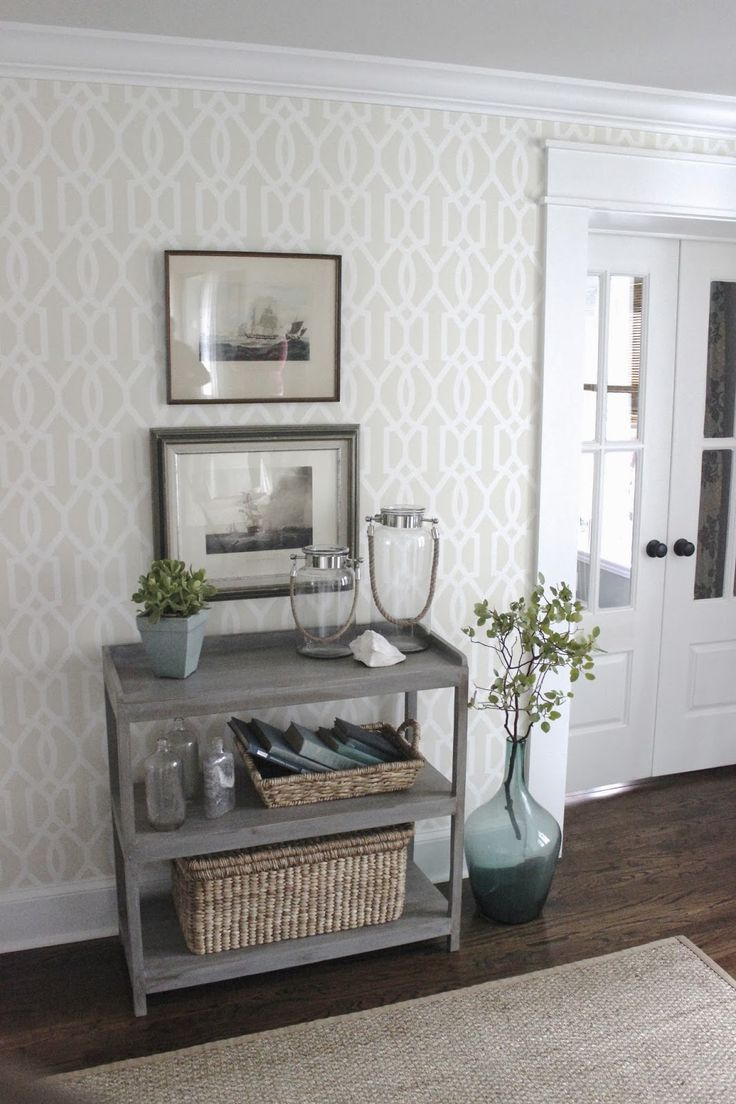 BEFORE AND AFTER PART 2. Wallpaper For HallwaysPowder Room WallpaperLiving  ...