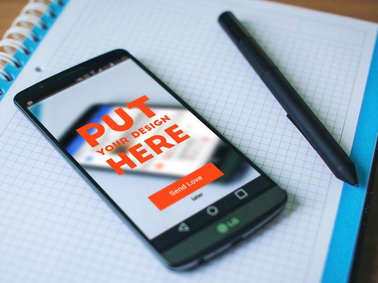 LG Android Phone Mockup