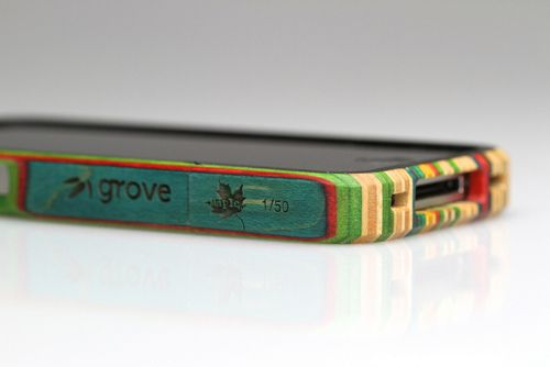 Recycled skateboard iPhone 4 case