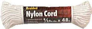 """Ace Nylon Venetian Blind Cord (73239) by Wellington. $4.57. Working load 30-72 lbs.. No. 4-1/2 9/64"""" dia x 48. Resistant to rot, mildew, and many chemicals. Better strength than cotton. Abrasion resistant nylon jacket, synthetic fiber core. Sold as each. No. 4-1/2 9/64"""" dia x 48'. Working load 30-72 lbs. Better strength than cotton. Abrasion resistant nylon jacket, synthetic fiber core. Resistant to rot, mildew, and many chemicals. Works well in pulleys. White. Hank. ..."""