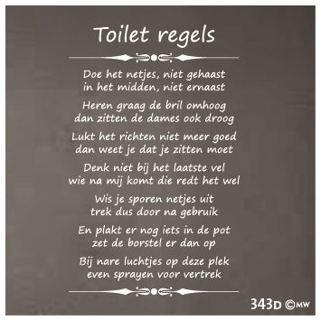 toiletregels sticker - Google zoeken