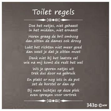 toiletregels sticker - Google zoeken