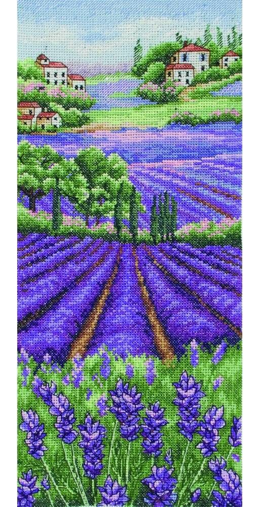 Provence Lavender Landscape Cross Stitch Kit £15.95 | Past Impressions | Anchor