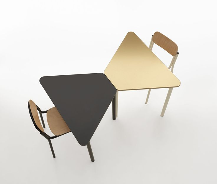 #Easy #modular tables by Manerba in dark larch/ lobster /night blue/ champagne tops and structure #focusoncolor