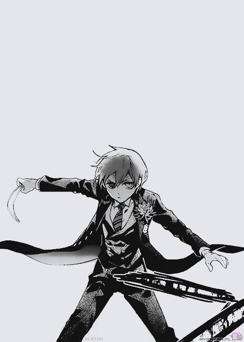 Ciel 13 year old boy with a knife or Dagger. [the feels though] Bad guy: Pfft. I can tak thi- Sebastian pops up from behind. Bad guy: You know what? I give up. Ciel + Sebastian: Really dude. Bad guy: yup. Ciel: Sebastian... Sebastian: On it Lord! *Kicks dude in the shin* Shall we? Ciel: Yes *Skips with Moe while holding hands*