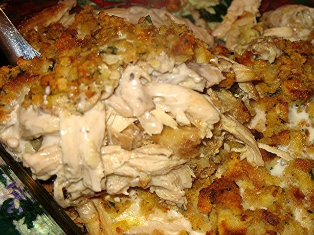 Chicken Casserole made with Stove Top stuffing mix