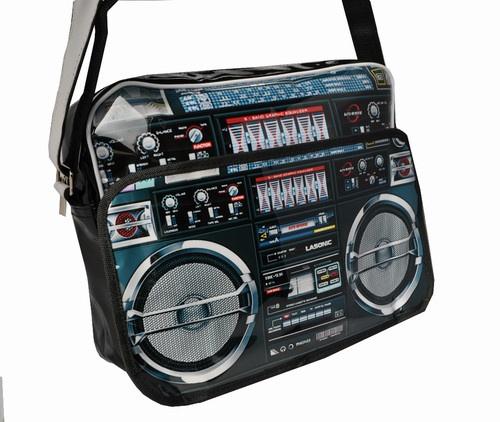 Ghetto Blaster Radio Boom Box Postman Laptop Carry Bag