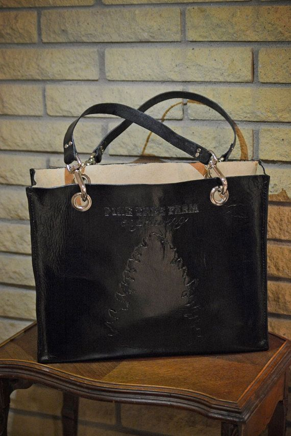 Large Leather bag handmade leather bag vegetable by CarvedCarriers
