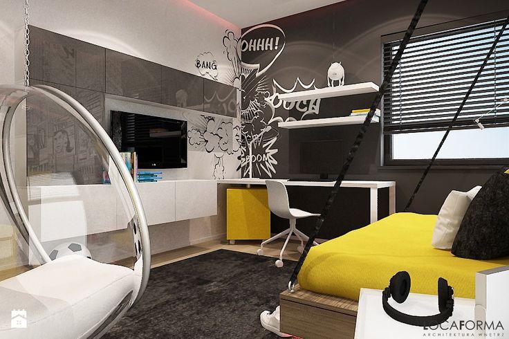 Mieszkanie w Legnicy_Styl nowoczesny - Duży pokój dziecka dla chłopca dla dziewczynki dla nastolatka, styl nowoczesny - zdjęcie od Locaforma