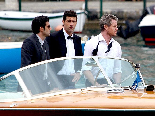 No idea why Eric Dane and Matthew Fox are shooting a commercial together in Italy, but I like it.