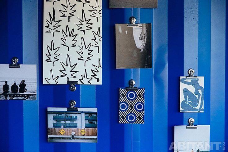 Синие стены в офисе