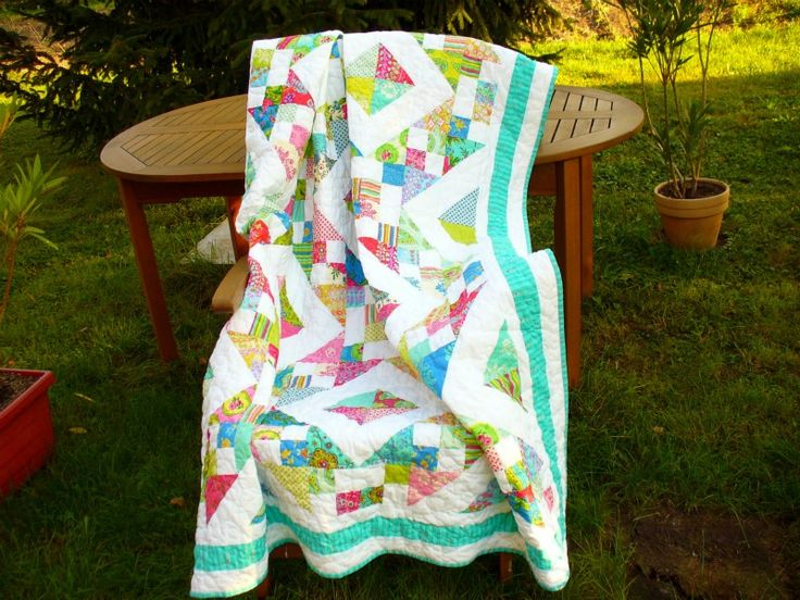 https://flic.kr/p/aHYEND | quilt with lovely colors