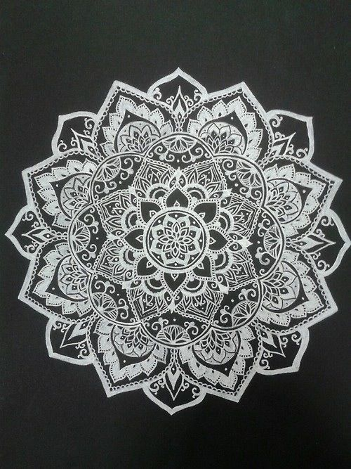 Black and White Cool hippie hipster design boho indie Grunge flower hippy rad mandala