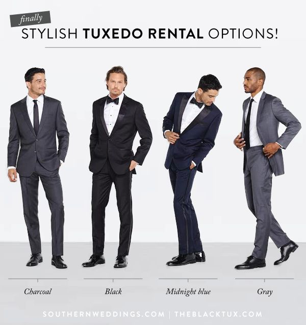 seriously stylish tuxedo and suit rental options - we love The Black Tux!