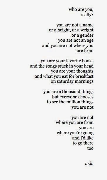 Who are you really...