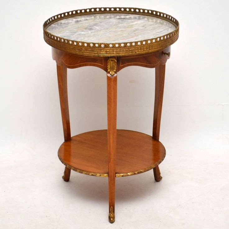 Antique French Marble Top Side Table - Marylebone Antiques - Sellers of antique furniture online and mid-century modern furniture in London.