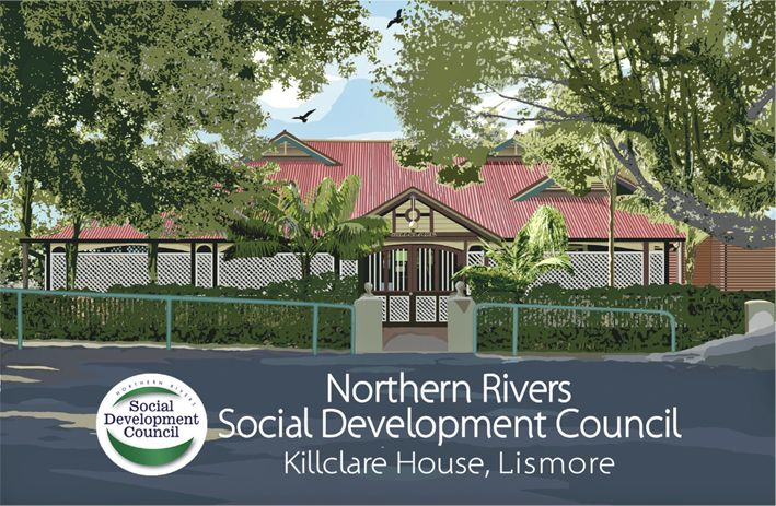 Northern Rivers Social Development Council premises - a beautiful heritage Queenslander-style location in Lismore.  Circa. 1929.