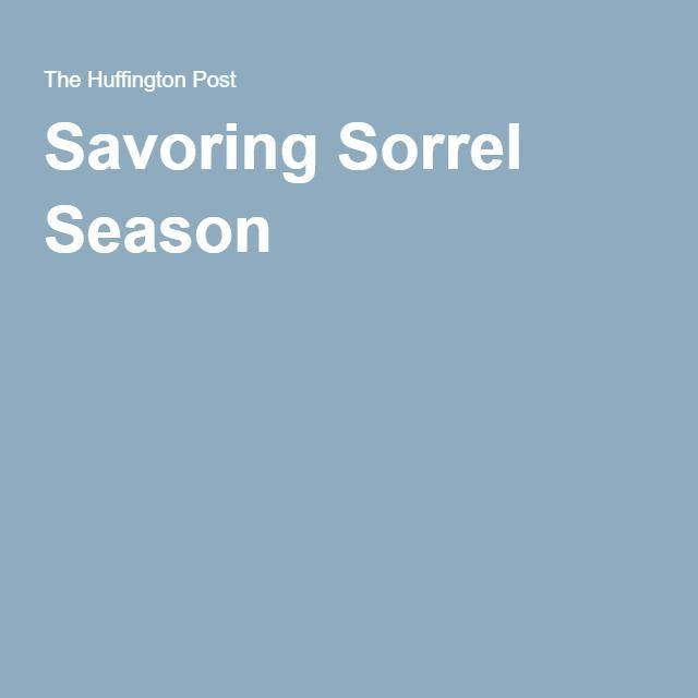 Savoring Sorrel Season