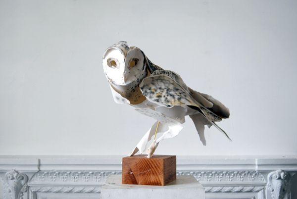 ANNA-WILI HIGHFIELD'S PAPER SCULPTURE: Barns Owl, Annawili Highfield, Paper Birds, Paper Sculpture, Paper Owl, Annawilihighfield, Owl Paper, Anna Wili Highfield, Animal Sculpture
