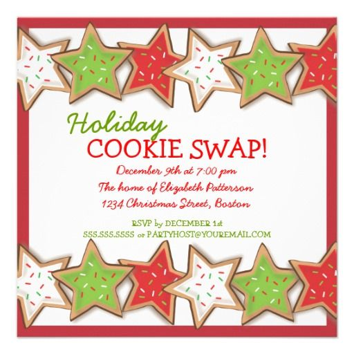 30 best Christmas Cookie Exchange Invitations images on Pinterest ...