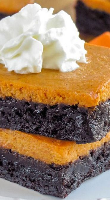 Pumpkin Pie Brownies: these are an easy convert to gluten free, and totally on my list to make today!