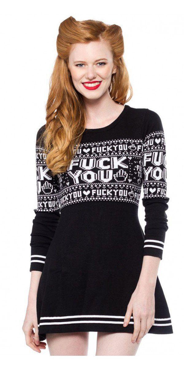 F You Sweater Dress