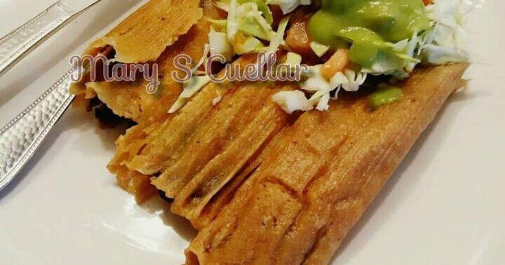 Fabulosa receta para Tamales de frijoles negros😋😋. Receta-- de mi mama💖💖