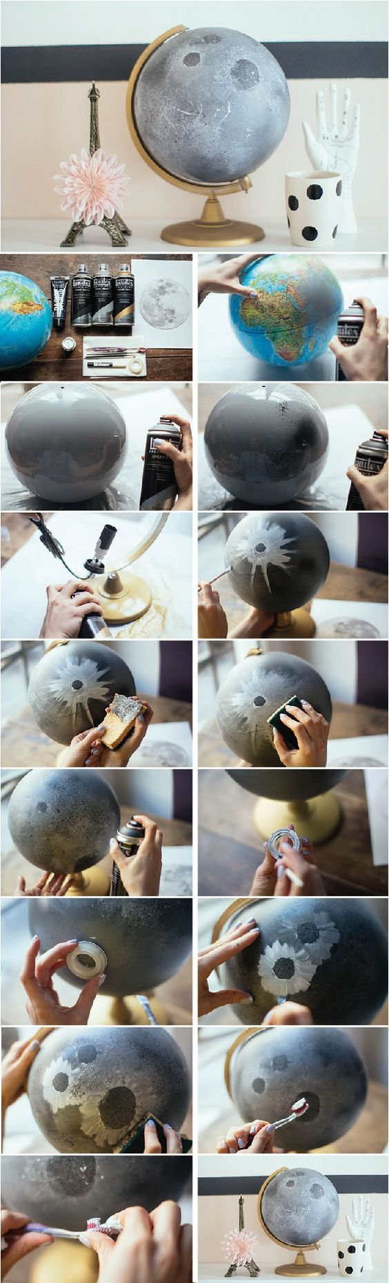 DIY Lunar Globe | Learn How to Make this really Cute night light